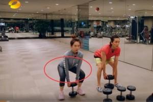 戚薇化浓妆健身有谁注意她运动之后的妆容导演都愣了